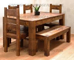 dining tables with benches and chairs with ideas image 6198 zenboa