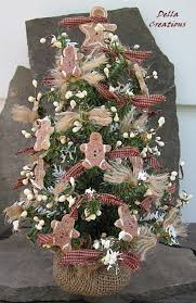 primitive christmas tree tabletop christmas tree primitive country with salt dough