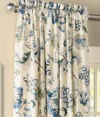 Floral Lined Curtains Waverly Montague Yellow Blue Floral Toile By Everythinginvalance
