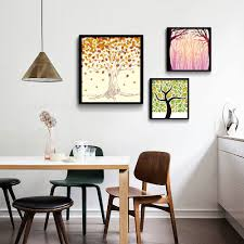 Wall Accessories Group Online Get Cheap Leaves Painting Wall Decor Pictures Aliexpress