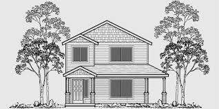 house plans for narrow lot two house plans narrow lot house plans rear garage house