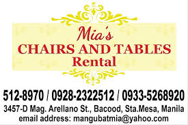 chairs and tables for rent chairs and tables for rent bacood sta mesa manila