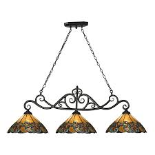 tiffany kitchen lights shop westmore lighting doveridge 51 in w 3 light tiffany bronze and