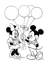 balloons coloring pages mickey mouse with balloons coloring pages