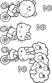 hello kitti coloring pages