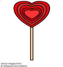 heart lollipop heart lollipop vector graphic
