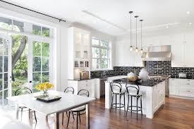 Brick Tile Backsplash Kitchen White Kitchen Cabinets With Black Brick Tile Backsplash Fanabis