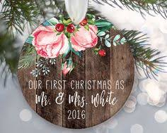 lovebirds ornament personalized christmas ornament rustic