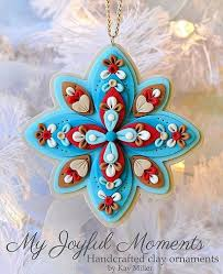 handcrafted polymer clay ornament by miller on etsy