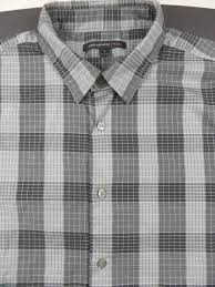 john varvatos usa men u0027s plaid button front long sleeve dress shirt