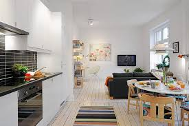 Laminated Floor Studio Apartment Interior Design Wall Mounted Tv Best Espresso