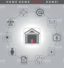 smart home systems smart home systems abstract conceptual illustration stock vector