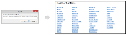 Create Table Of Contents In Word 2013 Automate Building A Table Of Contents For Your Spreadsheet With