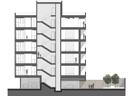 Apartment Building Floor Plans by Waaaat Pale Brickwork Creates Decorative Facade For Iranian