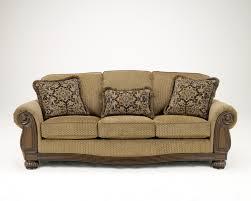 lynnwood traditional amber fabric wood sofa the classy home