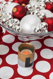 simple holiday table decor centerpiece cute duck tape craft