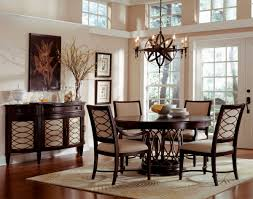 modern dining room decorating with wooden table and upholstered