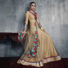 buy beige lehenga anarkali suit online women ethnic wear at