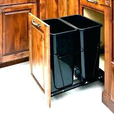under sink trash pull out villa cherry single trash can pull out kitchen cabinets villa cherry