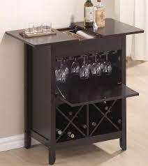 wine rack storage brown marble countertop recessed lights brown