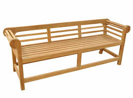 teak garden bench low back marlborough
