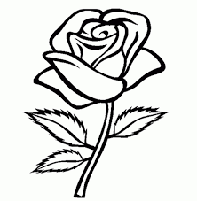 coloring pages draw a rose for kids coloring pages olegandreev me