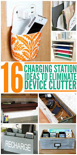 charging station ideas to eliminate device clutter