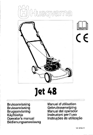 husqvarna lawn mowers jet 48 pdf user u0027s manual free download u0026 preview