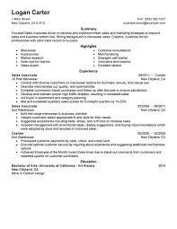 Customer Service Resumes Examples by Simple Sales Associate Level Resume Example Livecareer