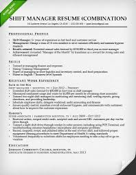 resume exles for fast food combination resume sles writing guide rg