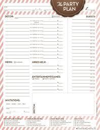 Party Planning Spreadsheet Party Plan Worksheet Organization Organizing Life Pinterest