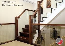Banister Rail Glass Stair Banisters Milan Black Walnut Handrail Toughened Glass