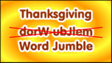 thanksgiving word jumble primarygames play free