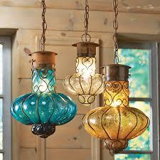 Turquoise Pendant Light Flower Glass Pendant Lights