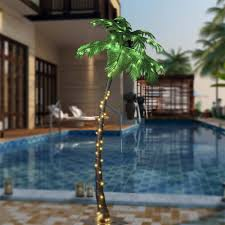 amazon com lightshare 7 feet lighted palm tree 96led lights