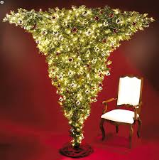kurt adler upside down christmas tree apartment therapy