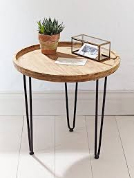 round wood and metal side table round wooden bedside tables small round side table elegant 3 leg