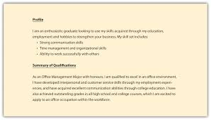 Professional Profile For Resume How To Write A Personal Profile For A Resume Resume Peppapp
