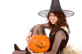 Halloween Costume Pumpkin Teen Halloween Costume Pumpkin Stock Photos Image