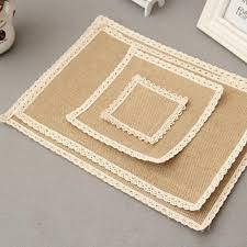 table mats and coasters wholesale fashion jute linen fabric placemat coasters pads dining