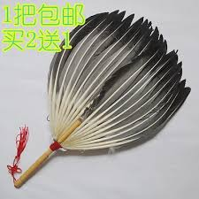 extra large feather fans qoo10 extra large feather fan natural black emaoshan crafts fan