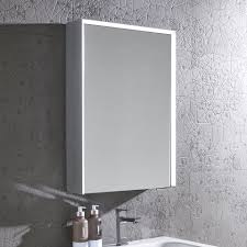 illuminated bathroom cabinets mirrors shaver socket gorgeous schneider faceline 3 door illuminated mirror cabinet