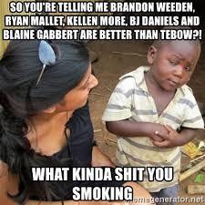 Brandon Weeden Memes - so you re telling me brandon weeden ryan mallet kellen more bj