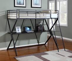 BedroomDiscounters Bunk Beds Metal - Metal bunk bed with desk