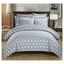 lovey geometric diamond reversible duvet cover set 2 piece twin