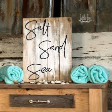 Wood Signs Home Decor Salt Sand U0026 Sea Sign Beach Decor Beach Sign Ocean