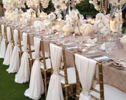 how to make chair sashes wedding chair decor etsy