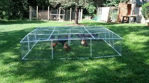 Backyard Chicken Run by Pvc Mobile Chicken Run Backyard Chickens