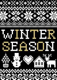 theme line winter winter season nordic pattern black ver line theme line store