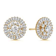 cluster stud earrings majesty bloom 7 8ctw baguette circle cluster stud earrings more